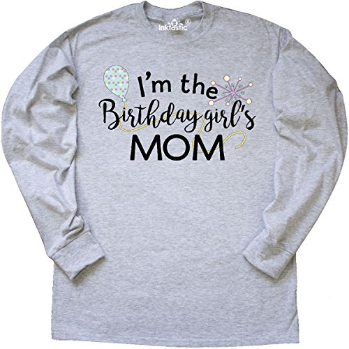 Mom Ash Grey T-shirt (Inktastic - I'm the Birthday Girl's Mom Long Sleeve T-Shirt Large Ash Grey)
