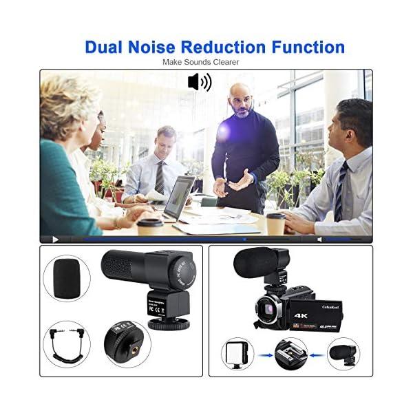 """Videocamera 4K, CofunKool WiFi Ultra Alta Definizione 48MP Digitale Videocamera, Sensore CMOS, IR Visione Notturna, 3.0"""" IPS Schermo, con Microfono e Obiettivo Grandangolare 3 spesavip"""