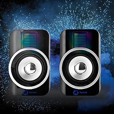 Altavoz Compacto de diseño de Combusters con Sistema de Altavoces de iluminación, Caja para Ordenador portátil, Torre de Ordenador, teléfono móvil, Tablet, Escritorio, iluminación LED, Sonido: Amazon.es: Electrónica