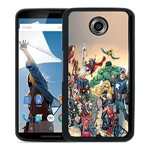 Best Buy Marvel Comic Book Characters iOS7 Black Google Nexus 6 Phone Case