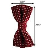 VICTHY Etop Colorful Polka Dots Bow Tie,Pet Dog Cat Adjustable Bowtie Fashion Accessories Wine Red