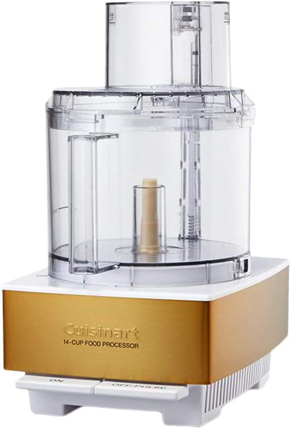 Cuisinart DFP-14WGY 14-Cup Food Processor, White Gold