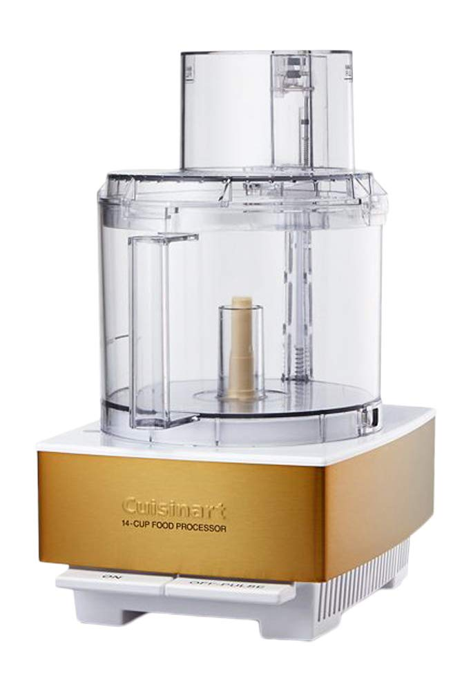 Cuisinart DFP-14WGY 14-Cup Food Processor, White/Gold by Cuisinart