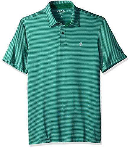 IZOD Men's Golf Greenie Short Sleeve Stripe Polo