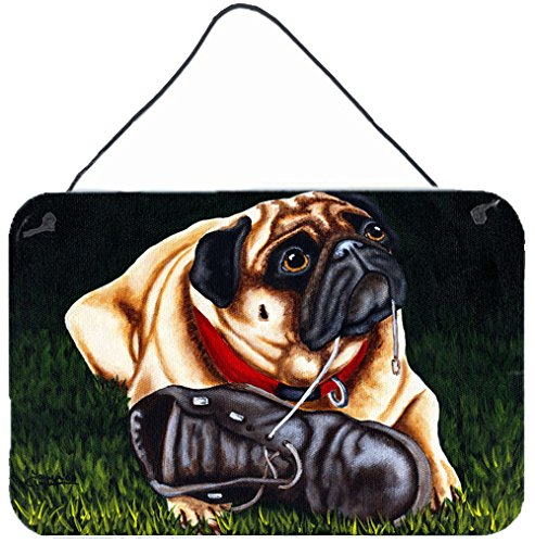 """UPC 638508172228, Caroline's Treasures AMB1382DS812 Cluster Buster The Pug Wall or Door Hanging Prints, 8""""H x 12""""W, Multicolor"""
