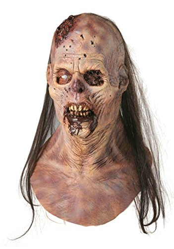 Maggot Buffet Horror Zombie Scaary Latex Adult Halloween Costume Mask ()