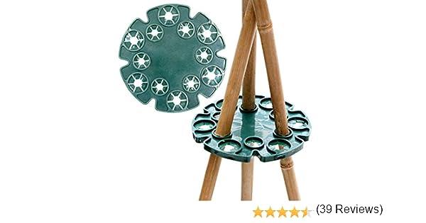 5pcs bambú wig-wam soporte caña apoyo tapones jardín caña Grips ...
