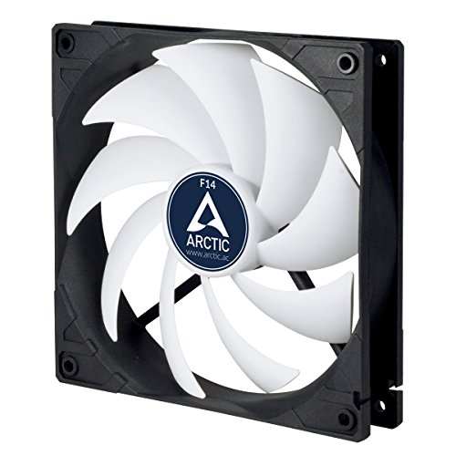 ARCTIC F14-140 mm Standard Case Fan | Ultra Low Noise Cooler | Silent Cooler with Standard Case | Push- or Pull Configuration Possible -