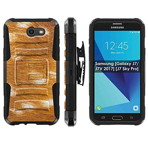 Samsung Galaxy (J7 2017) (J727) Deluxe Phone Case by [TalkingCase], Premium Dual Layer Armor Case w/Holster & Kickstand Perx,Sky Pro,J7V [2017],Halo-Cricket,Prime, [Soft Deer Fur Pattern] Design