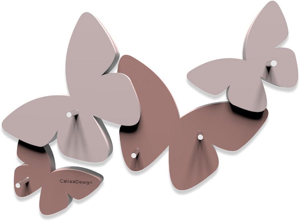 Abbronzato Colore Portachiavi da Parete Farfalle CalleaDesign