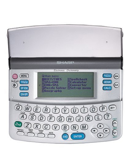 Sharp PW-E250 Pocket Oxford Spanish English Dictionary & Thesaurus by Sharp