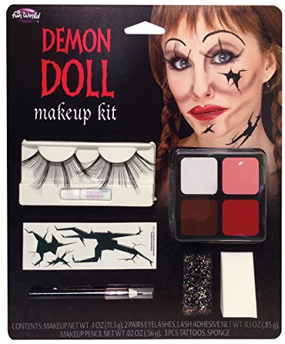 Makeup Scary (Demon Doll Makeup Kit Costume Makeup)