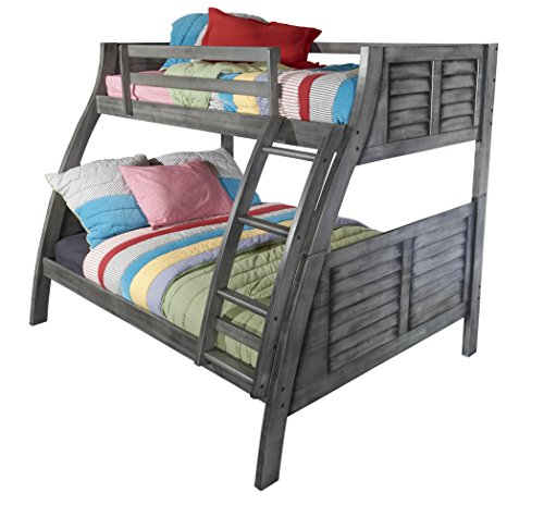 - Powell's Furniture 16Y8185BB Easton Gray Bunk Bed,