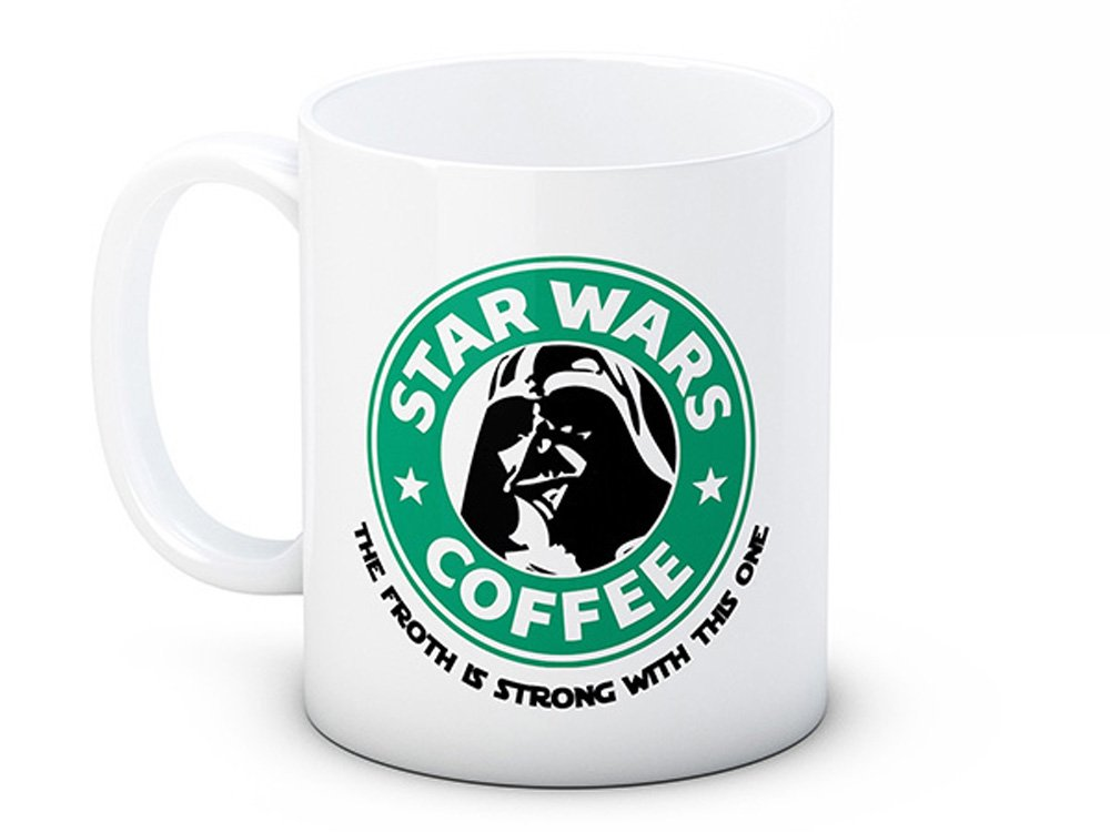 Star Wars Parodia - The Froth is Strong With This One - Taza De Café De Cerámica De Alta Calidad: Amazon.es: Hogar