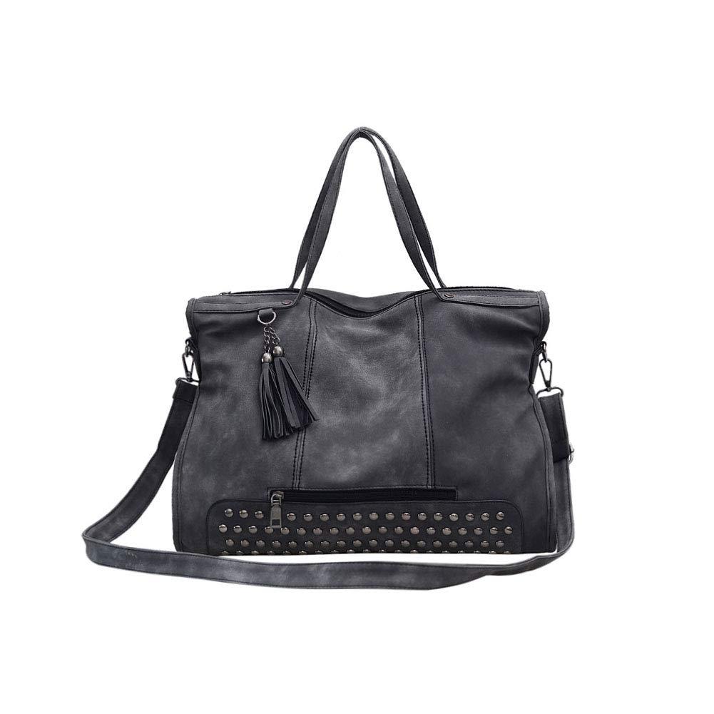 bf54f7b999a85 Fishbag Handtasche Damen Große Taschen Umhängetasche Weekender Shopping  Arbeitstasche Vintage Nieten Coole Mode Herbst Winter Schuhe ...