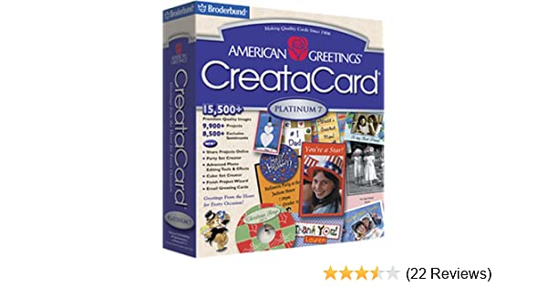 Amazon american greetings creatacard platinum 7 m4hsunfo