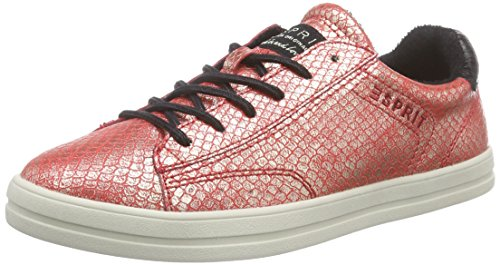 Orange Esprit Lace Up Scarpe 825 Mega Da Donna rot Red Ginnastica Rosso wwZr4qP