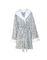 Pajama Drama Women's Snowflake Plush Robe