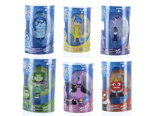 Disney/Pixar Inside Out 6 Piece Figure Set - Disgust, Fear, Sadness, Joy, Anger and Bing Bong ()