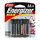 : Energizer Max Batteries - AA - Pack of 4