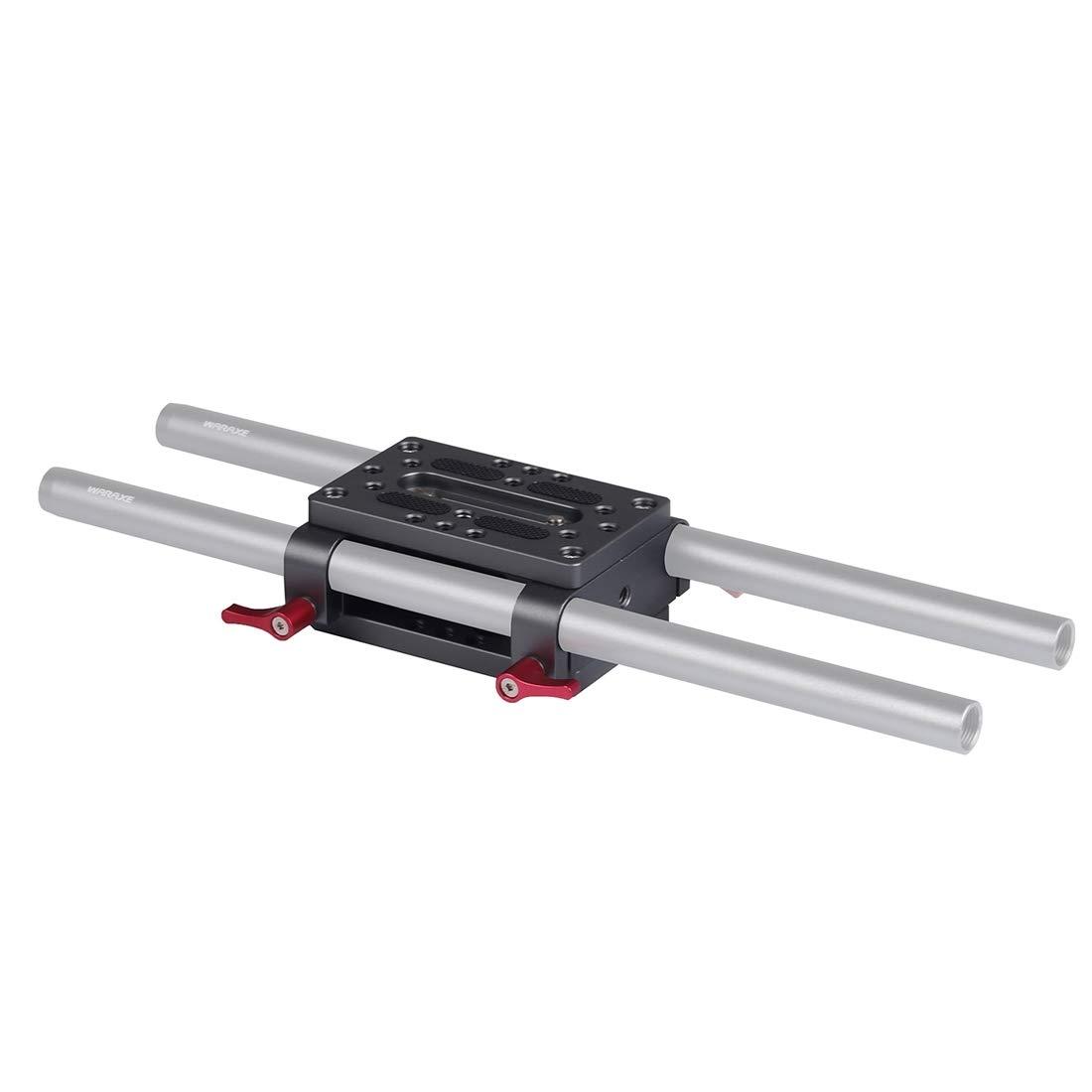 ロッドサポート用15mmロッドクランプレールブロック付き三脚取り付けプレート/ DSLRリギッドケージ, (Color : ブラック)   B07NRD9MSF