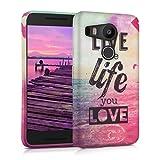 kwmobile TPU SILICONE CASE for LG Google Nexus 5X Design Live the Life multicolor dark pink blue - Stylish designer case made of premium soft TPU