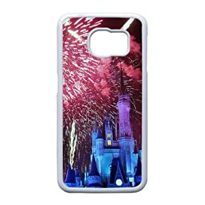 Plastic Durable Cover Samsung Galaxy S6 Edge Cell Phone Case White Zhqof Disney Toontown Durable Phone Case