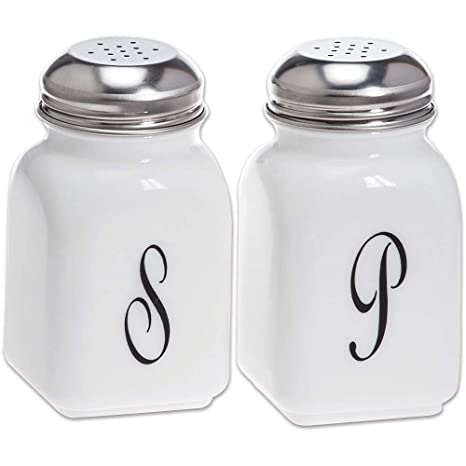 Amazon com: Salt & Pepper Shaker Set - Stove Top - Mosser Glass USA