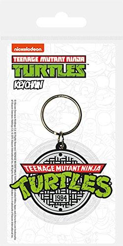 Pyramid International Tortugas Ninja Llavero Caucho Logo 6 cm