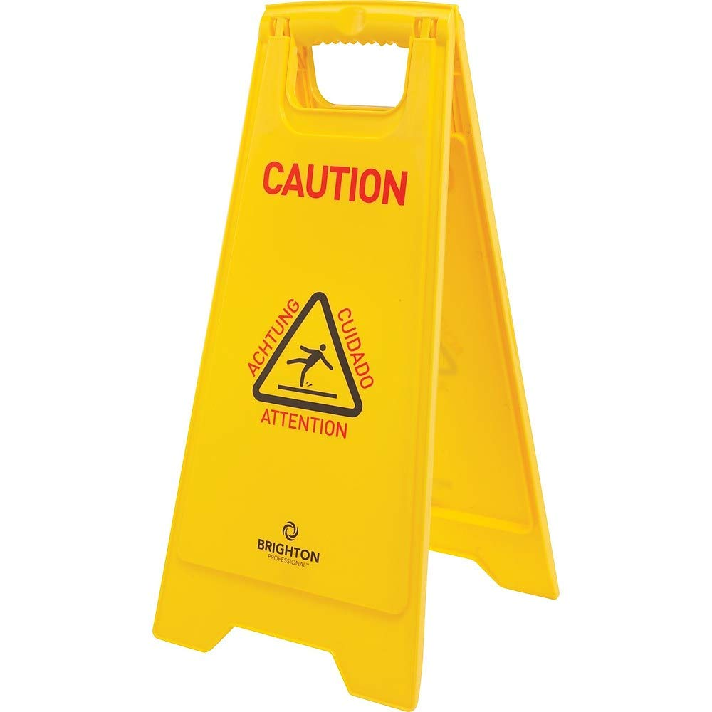Staples 21872 Floor Sign Multilingual Caution