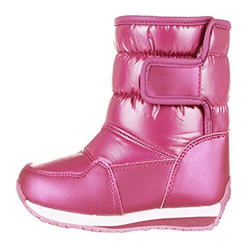 76d80ad0b6fdc Hibote Bottes de Neige Enfant - Unisexe Fille Garçon Boots Hiver Chaudes  112703