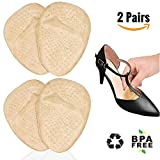 Ball of Foot Cushions for High Heels, Metatarsal Pads for Women All Day Pain Relief Forefoot Pads Heel Snugs Shoe Inserts, 2 Pairs