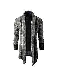 Deer Gary New Men's Long Knitwear Sweater Coat