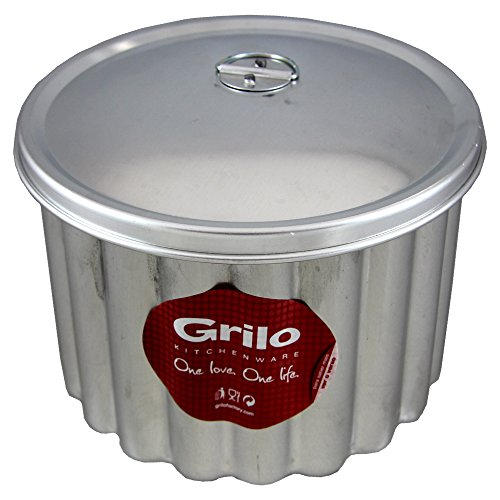 Grilo Kitchenware Flan Pudding Mold With Lid Banho Maria Canelada Made In Portugal (N.20 8.5 inch - 20 Cm)