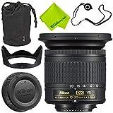 Nikon AF-P DX NIKKOR 10-20mm f/4.5-5.6G VR Lens + 72mm UV Filter + Fibercloth + Lens Capkeeper 70 inch Monopod Deluxe Cleaning Kit Bundle