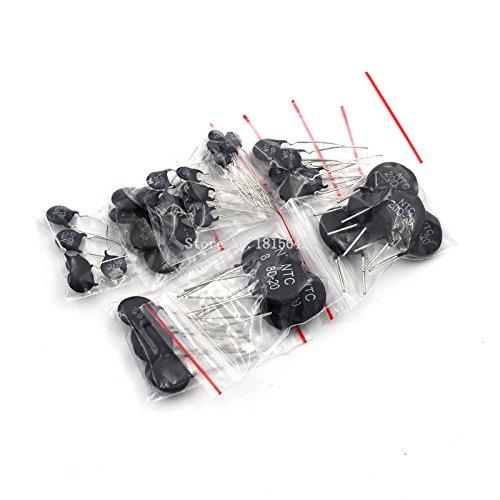 45PCS LOT NTC Thermistor Resistor Kit 5D-11 5D-15 8D-20 10D-7 10D-9 10D-11 20D-20 33D-7 47D-15 Thermal Resistor Resistance ()