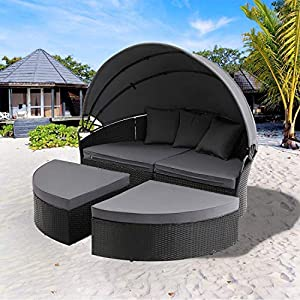 51TDVJWTInL._SS300_ 75+ Outdoor Wicker Daybeds For Your Patio For 2020