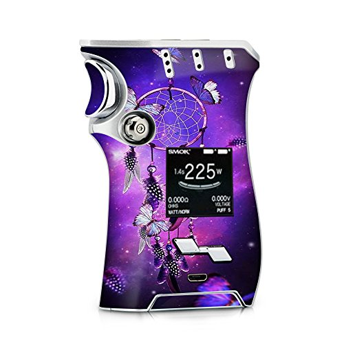 Skin Decal Vinyl Wrap for Smok Mag Kit 225w Vape (Includes TFV12 Prince Tank Skins) Skins Cover/Dreamcatcher Butterflies Purple