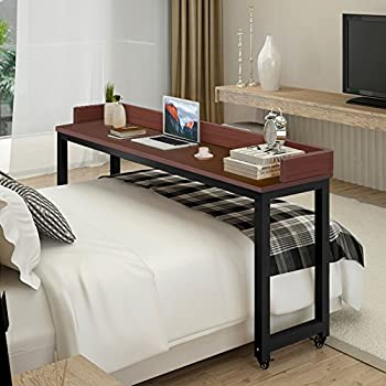 Amazon Com Overbed Table With Wheels Tribesigns Mobile