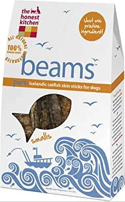 Honest Kitchen BT4 Beams Fish Skin Chew Dog Treat, 4 Ounces