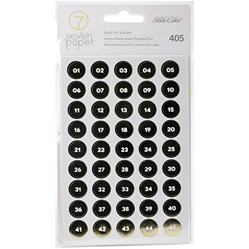 scrapbooking numbers gold - 2