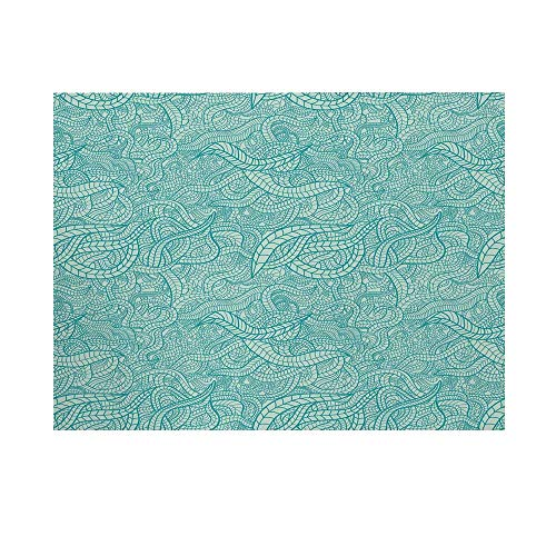 - Aqua Photography Background,Vintage Botanic Nature Leaves Veins Swirls Ivy Mosaic Inspired Print Decorative Backdrop for Studio,15x10ft