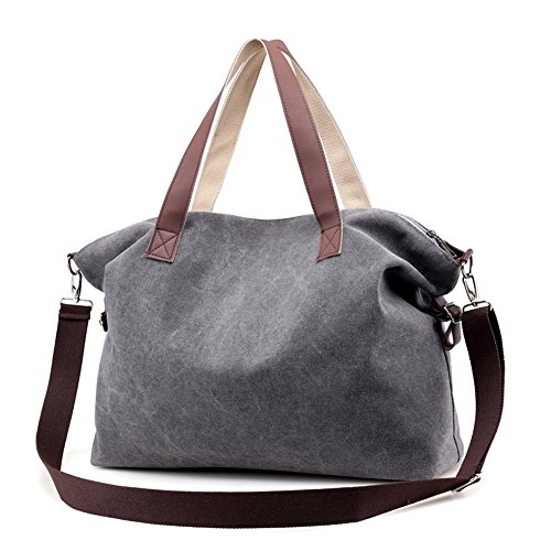 Women's Handbags,LOSMILE Shoulder Bags Top Handle Beach Tote Purse Crossbody Bag (Grey) (Weekend Bag)