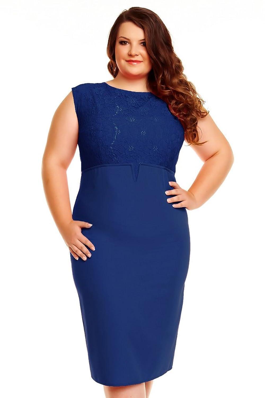 Victoriav Women's Pencil Plain Sleeveless Dress blue blue