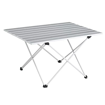 SOVIGOUR Aluminum Folding Camping Table, Portable Compact Roll Up Camp Table, 3 Size Lightweight Picnic Table with Carry Bag for Hiking, BBQ, Fishing and Travel : Sports & Outdoors