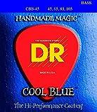 DR Handmade Strings CBB-45 K3 Coated Steel Bass Guitar Strings, Medium, Cool Blue