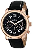 a_Line Women's AL-80163-RG-01 Amor Analog Display Japanese Quartz Black Watch