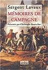 Mémoires de campagnes par Lavaux