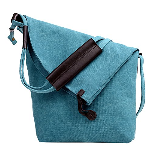 Slouch Female Satchel Hobo Crossbody Girl Canvas Unyu Bag Shoulder Fashion Bags Messenger For Womens Blue Lady Leather PwFZnTq
