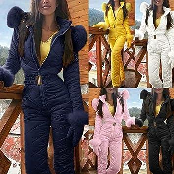 Tuta da Neve a Pezzo Unico Pantaloni da Sci Invernale per Sport allAria Aperta Blue da Donna Small Impermeabile e Antivento Caldo iSunday